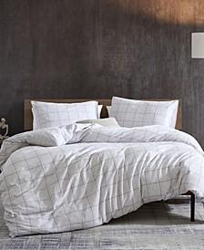Holden Grid Comforter Set, 3 Piece, Full/Queen