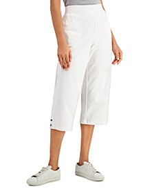 Petite Pull-On Snap Button-Hem Capris, Created for Macy's