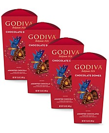 Assorted Chocolate Domes, Pack of 4