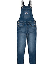 Big Girls Logo Skinny Denim Overall
