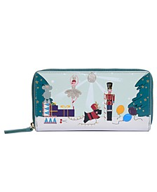 Little Drummer Dog Large Zip Around Matinee Wallet