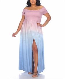 Plus Size Off-The-Shoulder Cover-Up Dress