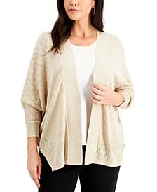 Chevron-Knit Short Cardigan Sweater, Created for Macy's