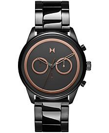 Men's Chronpgraph Powerlane Gunmetal-Tone Bracelet Watch 43mm