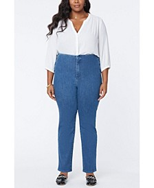 Women's Plus Size Marilyn Straight Jeans in Forver Slimming Denim