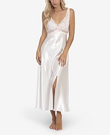 Women's Bridal Bouquet Solid Satin Charmeuse Gown