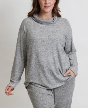 Women's Plus Size Cozy Raglan Top