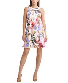 Petite Floral-Print Dress