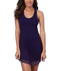 Women's Soft Knit Jersey Sleepwear Chemise with Scoop Neckline