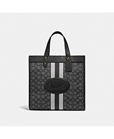 Field Tote In Signature Jacquard With Coach Branding