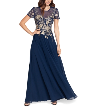 Beaded Embroidery-Trim Gown