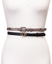 INC 2-Pk. Skinny Belts, Created for Macy's