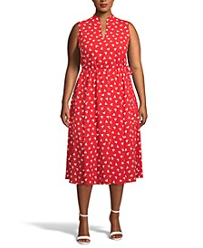 Plus Size Charleston Fit & Flare Midi Dress