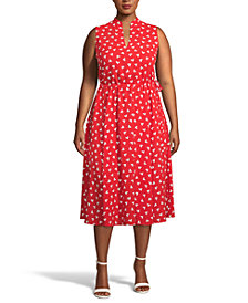 Anne Klein Plus Size Charleston Fit & Flare Midi Dress