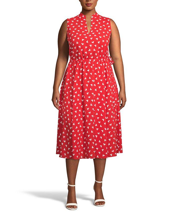 Anne Klein - Plus Size Charleston Fit & Flare Midi Dress
