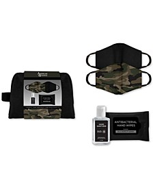Men's 5-Pc. Mask & Hand Sanitizer Gift Pouch