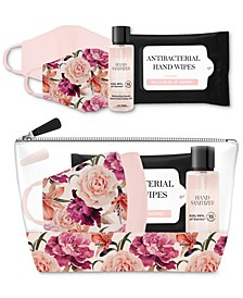 5-Pc. Mask & Hand Sanitizer Gift Pouch