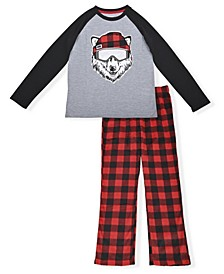 Big Boys Bear Minky Pajama Set, 2 Piece