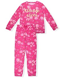Big Girls Floral Print Pajama Set, 2 Piece
