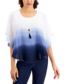 Dip-Dyed Poncho-Style Top, Created for Macy's