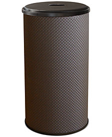 Lamont Basketweave Round Laundry Hamper