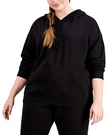 Trendy Plus Size Fleece Hoodie