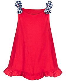 Baby Girls Knot Ruffle Cotton Tunic, Created for Macy's