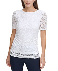 Lace Ruched Top