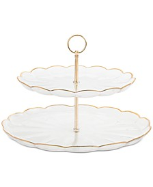 2-Tiered Server with Gold Edge, Created for Macy's