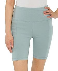 Juniors' Side Pocket Biker Shorts