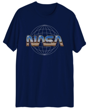 Nasa Chrome Logo Men's Short Sleeve Graphic T-shirt