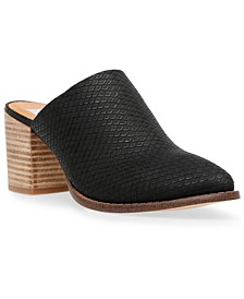 Trolly Block-Heel Mules