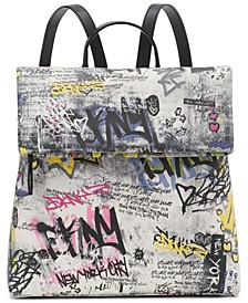 Tilly Graffiti Foldover Backpack