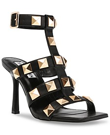 Women's Capri Studded Stiletto Sandals