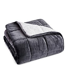 """6lb. Velvet to Sherpa Reverse Kids Weighted Throw Blanket, 40"""" L x 60"""" W"""
