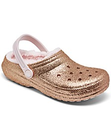 Big Girls Glitter Lined Clogs from Finish Line