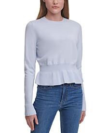 Cotton Peplum Sweater