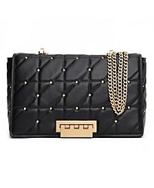 Earthette Leather Jumbo Soft Chain Shoulder Bag