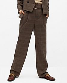 Women's Belt Check Pants