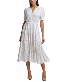 Prism Ripple Midi Dress