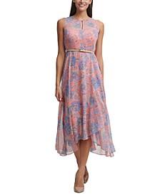 Provincial Chiffon Midi Dress
