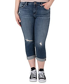 Trendy Plus Size Avery Ripped Cropped Skinny Jeans