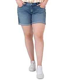 Plus Size Boyfriend Shorts
