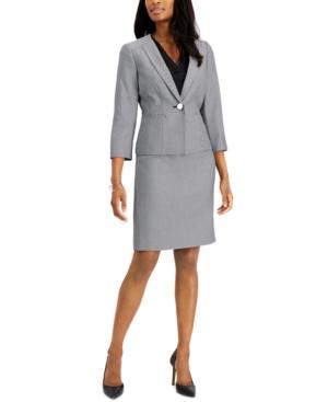 Le Suit Skirts PETITE JACQUARD SKIRT SUIT