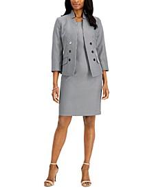 Petite Striped Dress Suit