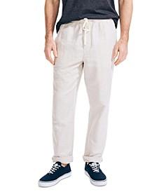 Men's Classic Fit Drawstring Linen Pants