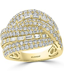 EFFY® Diamond Baguette Crossover Statement Ring (1-7/8 ct. t.w.) in 14k Gold