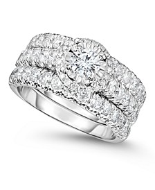 Diamond Bridal Three-Ring Set (2 ct. t.w.) in 14K White Gold