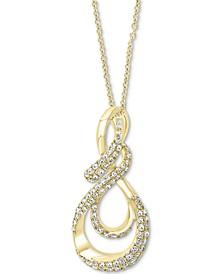 "EFFY® Diamond Treble Clef 18"" Pendant Necklace (1/2 ct. t.w.) in 14k Gold"