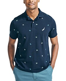 Men's Classic Fit Printed Polo Shirt